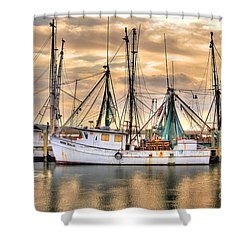 Miss Hale Shrimp Boat Shower Curtain