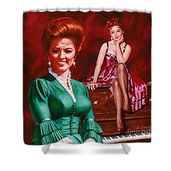Miss Kitty Shower Curtain by Dick Bobnick