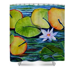 Whimsical Waterlily Shower Curtain