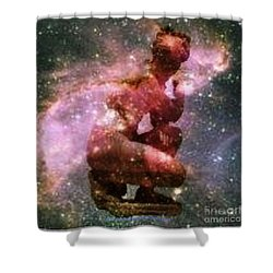 Miss Universe Shower Curtain by PainterArtist FIN