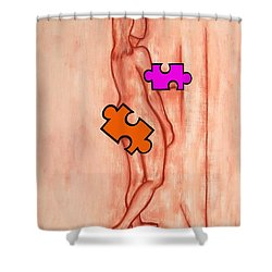 Missing Piece 5 Shower Curtain by Patrick J Murphy
