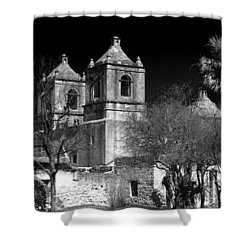 Mission Concepcion Shower Curtain by Brian Kerls