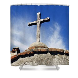 Mission Cross Shower Curtain by Shoal Hollingsworth