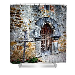 Mission Espada - Doorway Shower Curtain