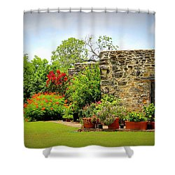 Mission Espada - Garden Shower Curtain