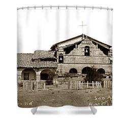 Mission San Antonio De Padua California Circa 1885 Shower Curtain