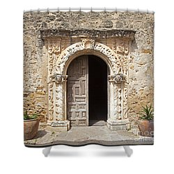 Mission San Jose Chapel Entry Doorway Shower Curtain