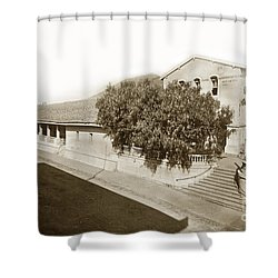 Mission San Luis Obispo De Tolosa California 1880  Shower Curtain by California Views Mr Pat Hathaway Archives