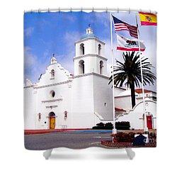Mission San Luis Rey Shower Curtain by Jerome Stumphauzer