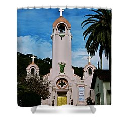 Mission San Rafael Shower Curtain by Eric Tressler