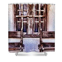 Mission Soledad Window Seating By Diana Sainz Shower Curtain