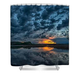 Mission Valley Sunset Shower Curtain