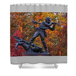 Mississippi At Gettysburg - The Rage Of Battle No. 1 Shower Curtain by Michael Mazaika