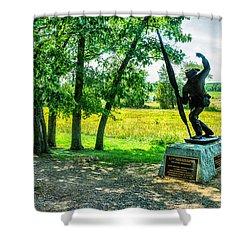 Mississippi Memorial Gettysburg Battleground Shower Curtain by Bob and Nadine Johnston