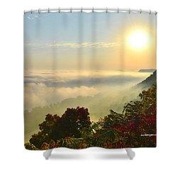 Mississippi River Fog Shower Curtain
