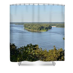 Mississippi River Overlook Shower Curtain by Luther Fine Art