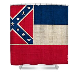 Mississippi State Flag Shower Curtain by Pixel Chimp