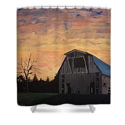 Shower Curtain featuring the painting Missouri Barn by Norm Starks