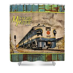 Missouri Pacific Lines Sign Engine 309 Dsc02854 Shower Curtain