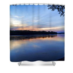 Missouri River Blues Shower Curtain