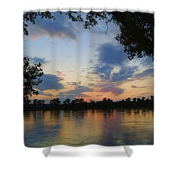 Missouri River Glow Shower Curtain