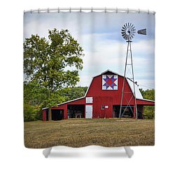 Missouri Star Quilt Barn Shower Curtain