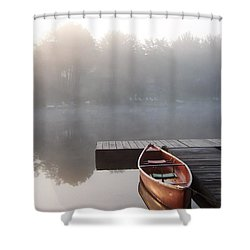 Mist Floating Over The Lake Shower Curtain