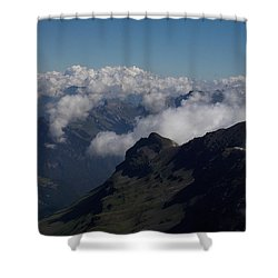 Mist From The Schilthorn Shower Curtain