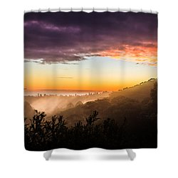 Mist Rising At Dusk Shower Curtain