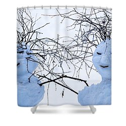 Mister And Missis Snowball - Featured 3 Shower Curtain