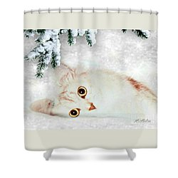 Mistletoe In The Snow Shower Curtain