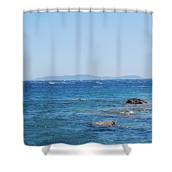 Shower Curtain featuring the photograph Mistral.force 6 by George Katechis