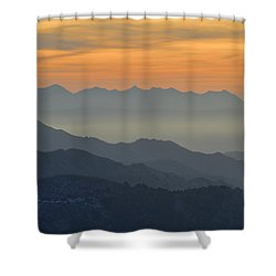 Mists In The Mountains At Sunset Shower Curtain by Guido Montanes Castillo