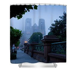 Misty Blues Shower Curtain