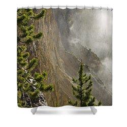 Misty Canyon  Shower Curtain by Tara Lynn