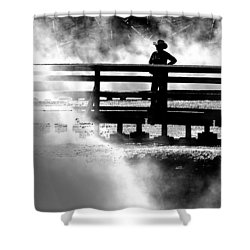 Misty Cowgirl Shower Curtain