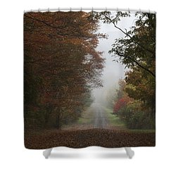 Misty Fall Morning Shower Curtain