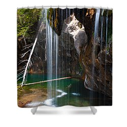Misty Falls At Hanging Lake Shower Curtain