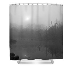 Shower Curtain featuring the digital art Misty by I'ina Van Lawick