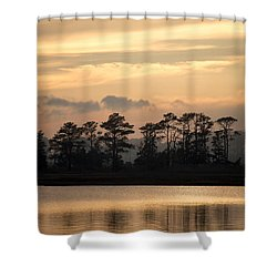Misty Island Of Assawoman Bay Shower Curtain