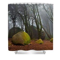 Misty Shower Curtain by Jorge Maia