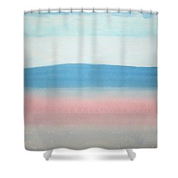 Misty Lake Original Painting Shower Curtain