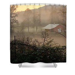 Misty Morn And Horse Shower Curtain