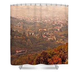 Misty Morn O'er Florence Shower Curtain