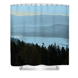Misty Morning At Donner Lake Shower Curtain