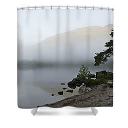 Misty Morning  Shower Curtain by Gary Eason