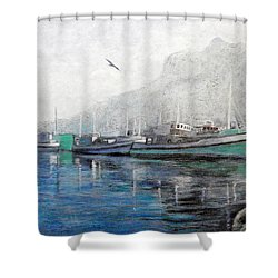 Misty Morning In Hout Bay Shower Curtain by Michael Durst