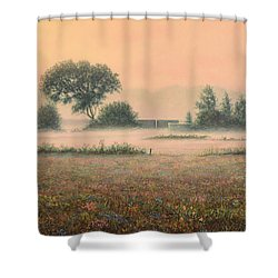 Misty Morning Shower Curtain by James W Johnson