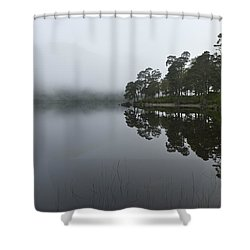 Misty Morning Reflections Shower Curtain by Gary Eason