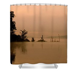 Misty Morning Solitude  Shower Curtain